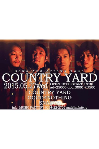 COUNTRY YARD~Bows And Arrows Tour~
