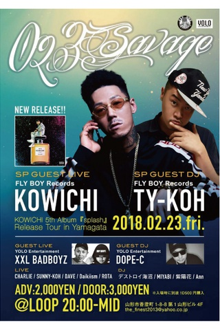 023Savage KOWICHI 5th Album『splash』Release Tour in Yamagata-