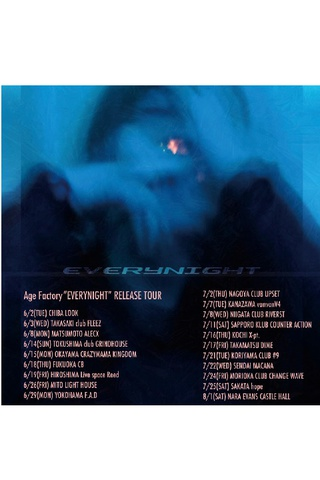"Age Factory ""EVERYNIGHT"" RELEASE TOUR"